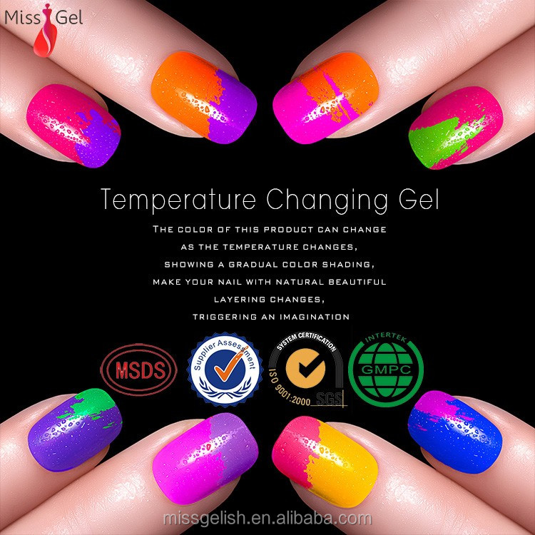 Wholesale Nail Supplies Mood Changing Gel Nail Polish Uv Gel organic uv/led gel