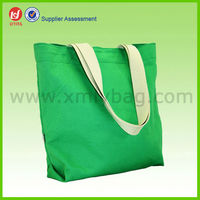 Green 420D Laminated Reusable Polyester Tote Bag