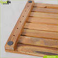 Teak wood design non slip mat for bathroom