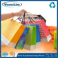 shopping charcoal kraft paper bag