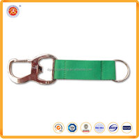 Hot selling high quality cheap custom short bottle opener lanyards with metal clip