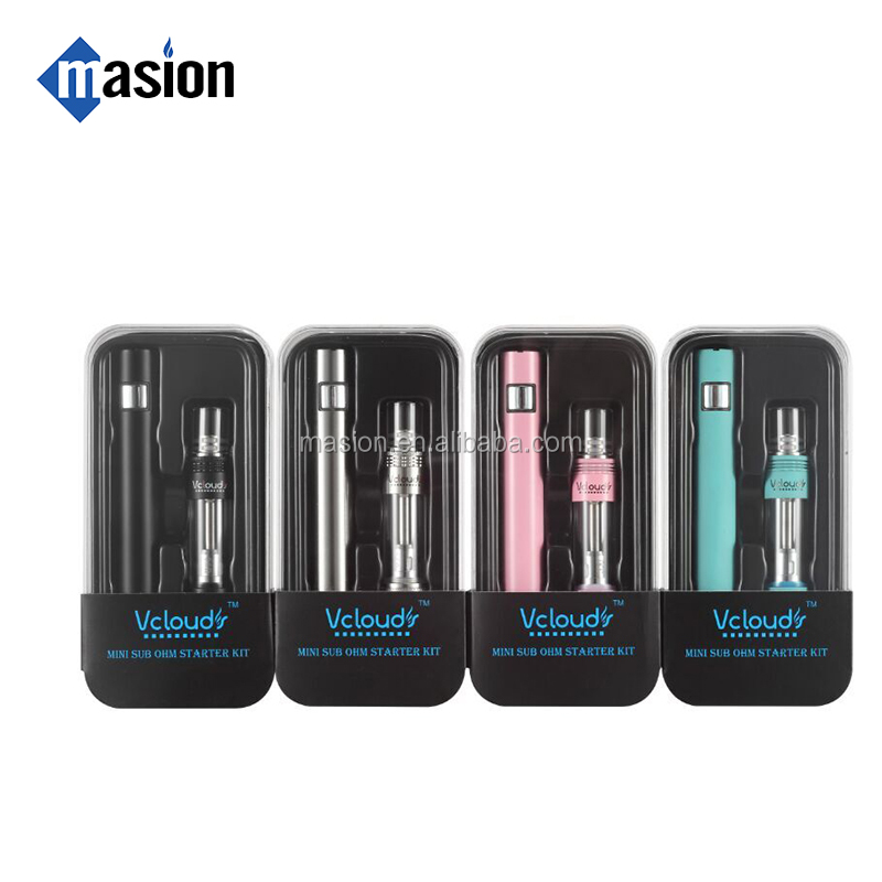 Slim 1100mah 40w glass tank e tron electronic cigarette