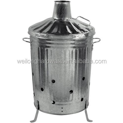 Large household galvanized waste incinerator
