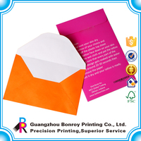 Printing Customized Design High Quality Colorful Gift Envelope Glossy