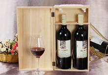 orange and black PU leather wooden wine box for 2 bottles alibaba