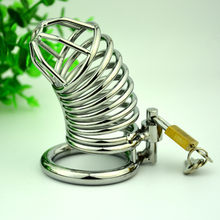 1PC Steel Chastity Device Quit Masturbation sex toy for men penis ring