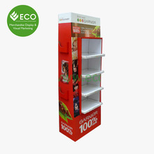 Promotional Paper Display Shelf Custom Hair Accessories Display Stand