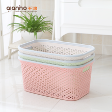 Wholesale commercial stackable plastic dirty clothes storage box laundry basket for sale