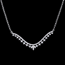Wholesale 925 Sterling Silver Glass Cubic Zirconia Infinity Pendant Necklace