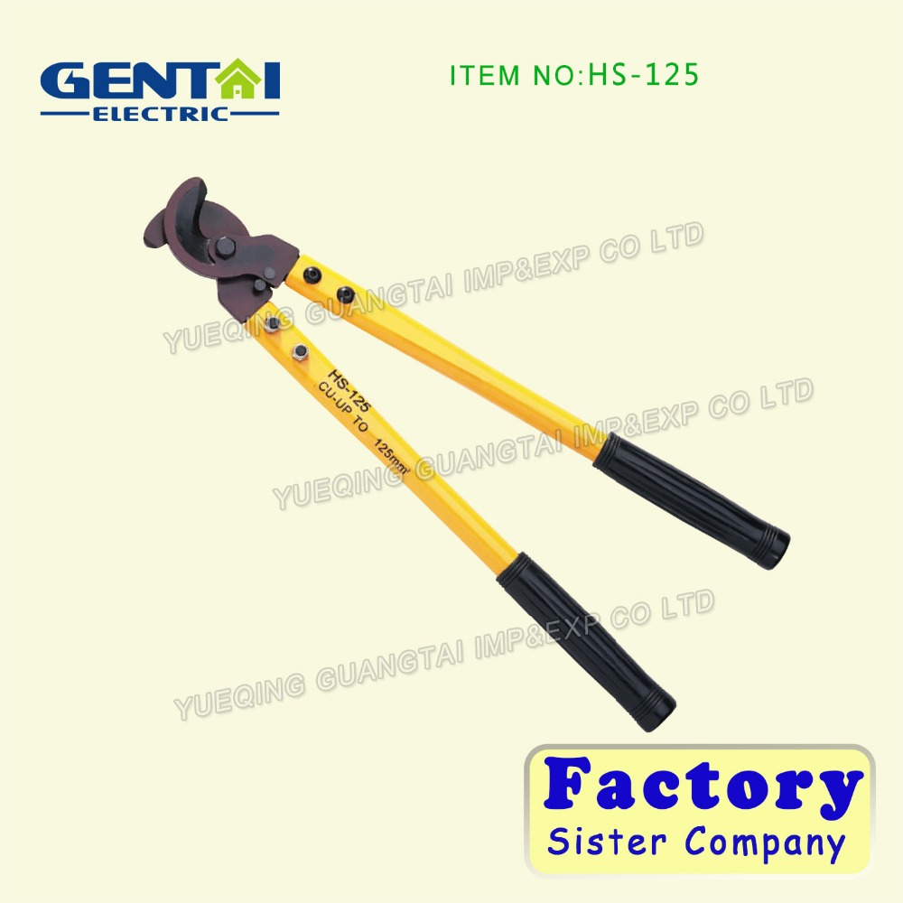 two step ratchet cable cutter HS-125 for cutting 32mm AL/CU cables 500AWG cable cutting tool
