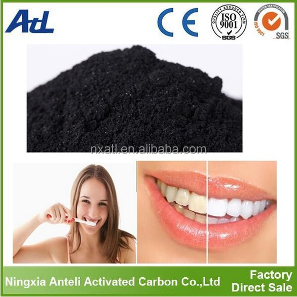 coco charcoal powder 100% Natural Teeth Whitener