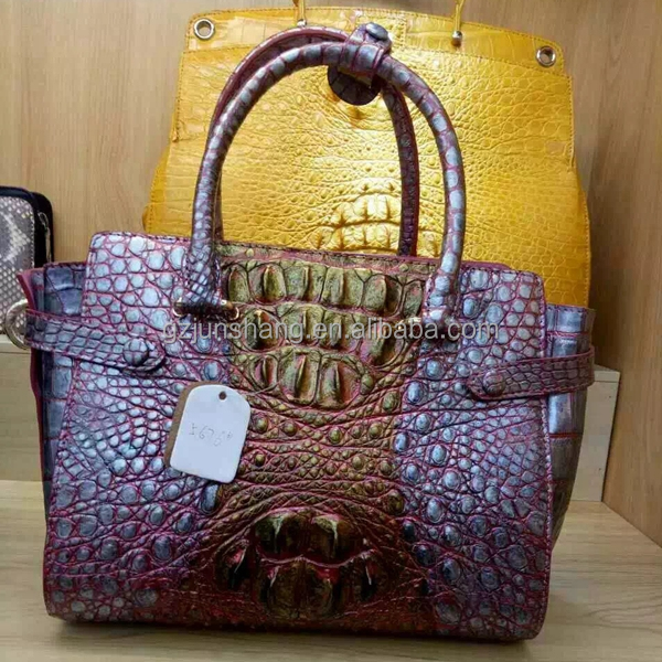 crocodile skin for fashion handbag usage, faux crocodile leather same with real leather pattern