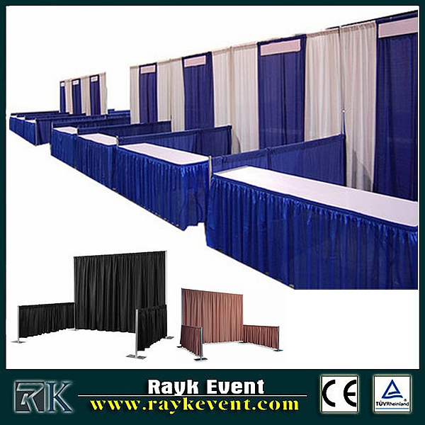 pipe and drape for portable photo booth frame