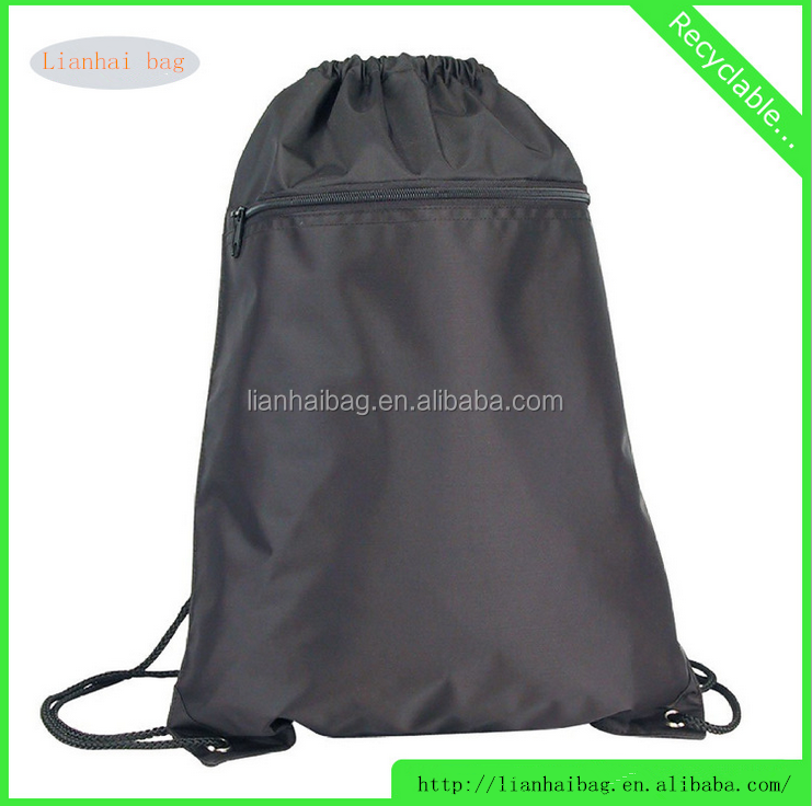 2016 Reuseble Polyster school bags for college students with front pocked zip locked
