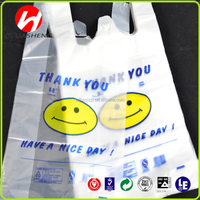 new style most popular virgin biodegradable PE T-shirt Plastic carrier/shopping Bag