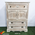 Distressed French Solid Wood Small Cupboard
