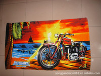 2015 china wholesale personalized motorbike beach towel