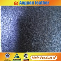 Guangzhou manufacturer selling good price pu/pvc cow skin leather for shoes and bags