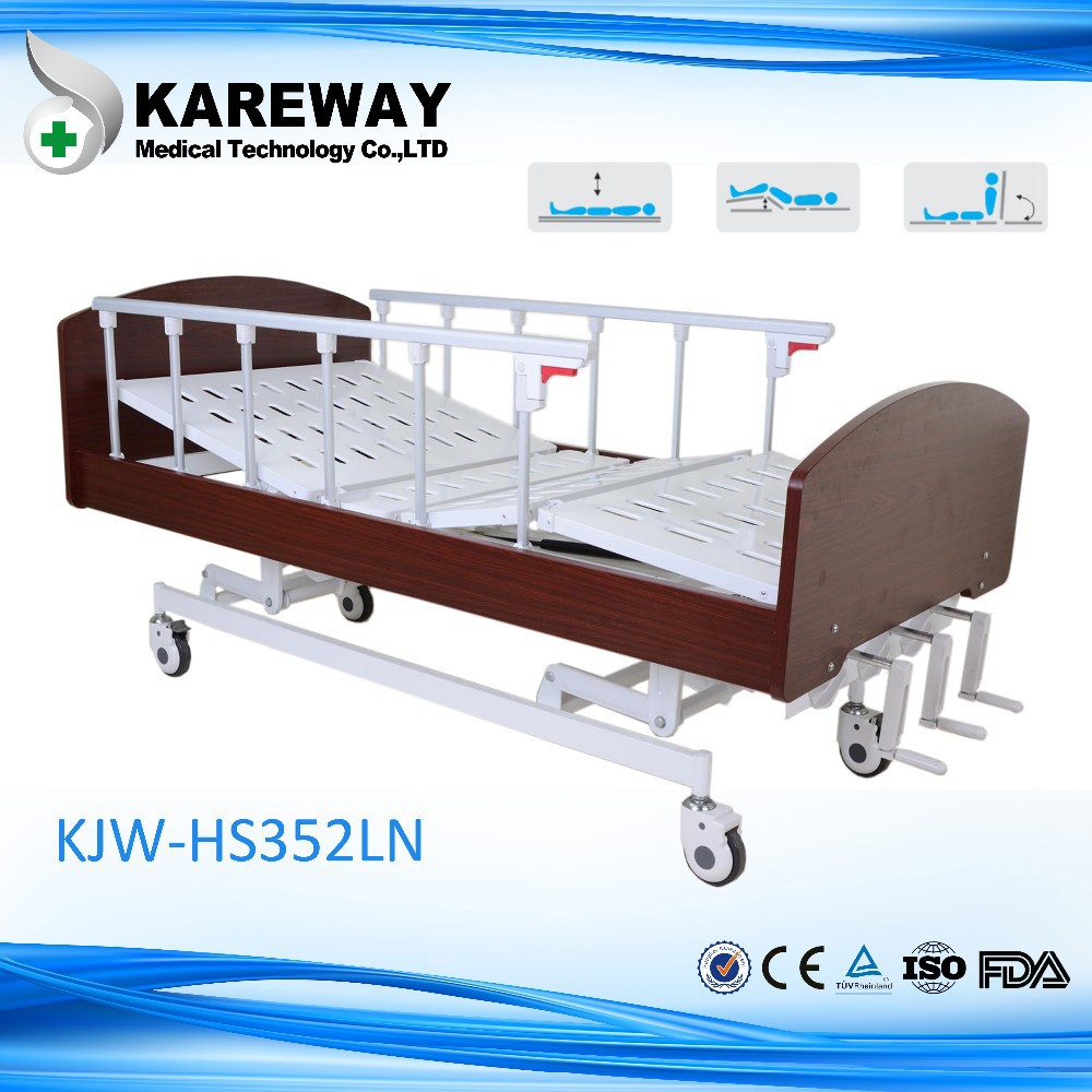 Wooden headboard home care bed electric nursing bed