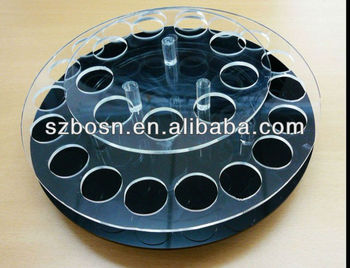 round acrylic cosmetic bottle display