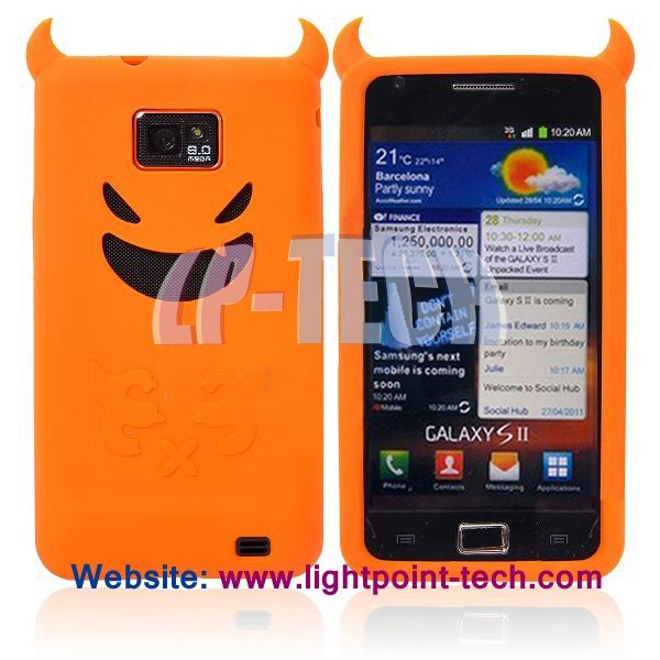 Devil Silicone Case for Samsung Galaxy S 2 i9100