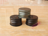 oxidation aluminum bottle cap 28mm black metal lid for spice jar