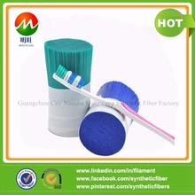Soft double tapered type toothbrush bristle made from BASF materials