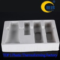 Flocked custom flocking blister packaging cosmetic inner tray