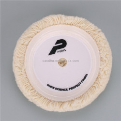 Wool polishing pad sheepskin buffing pad for car detailing 8''