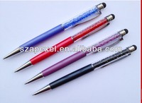 2 in 1 rhinestone stylus pen for capacitive touch screen,crystal stylus pen for Ipad Iphone Samsung galaxy Tab