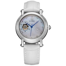 OUYAWEI High Quality Full Automatic Mechanical 3atm Waterproof Skeleton Lady Automatic Mechanical Watch