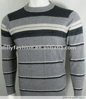 2015 korean style wholesale striped cashmere sweater for man