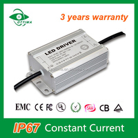 high quality 2-3 yeare warranty led driver 20W waterproof constant current led truck light power supply