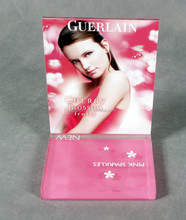 pink sheen cosmetic display stand