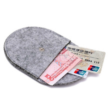 2017 trendy felt men purse for money / bank card / key