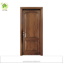 100% burma solid teak wood Arch shape real wood doors