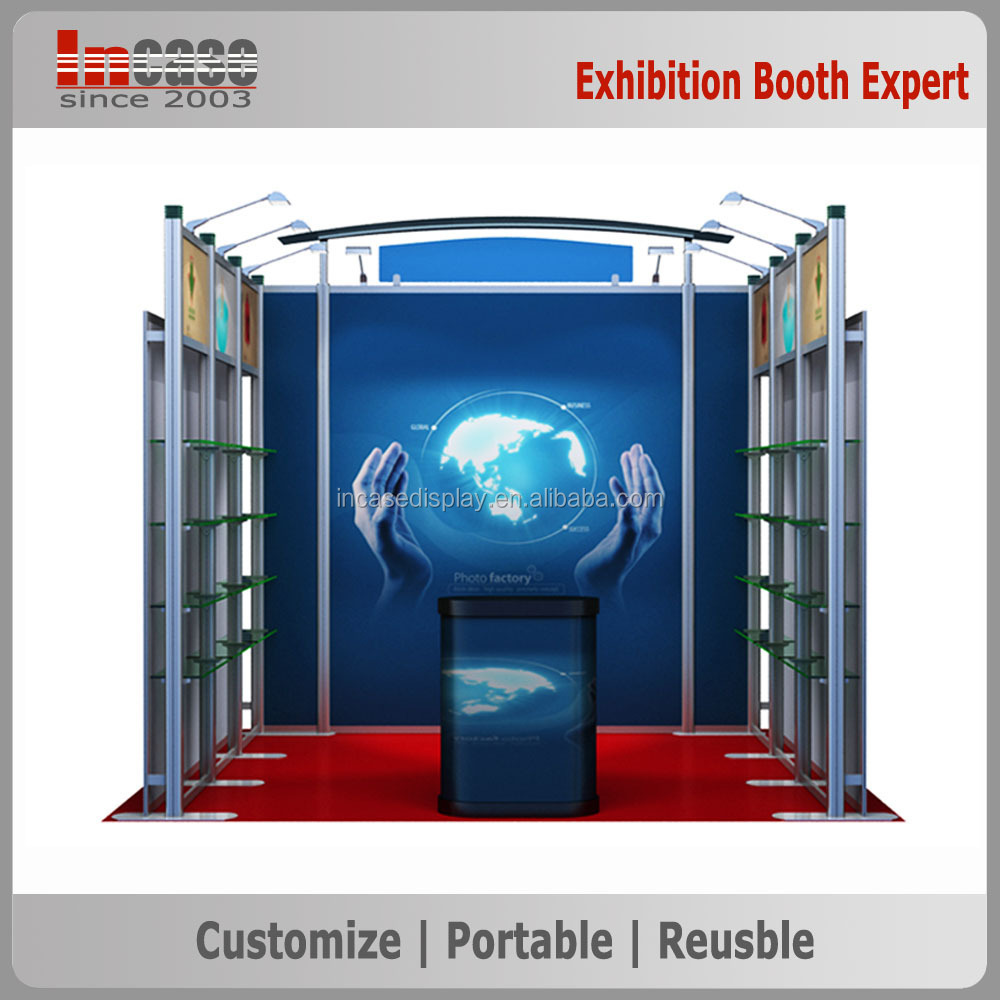 Easy assembling and dismantaling exhibition booth 10x10 booth design and construction
