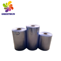 Embossed plasic pvc shrink film for packaging customized printed label 5-layer center fold