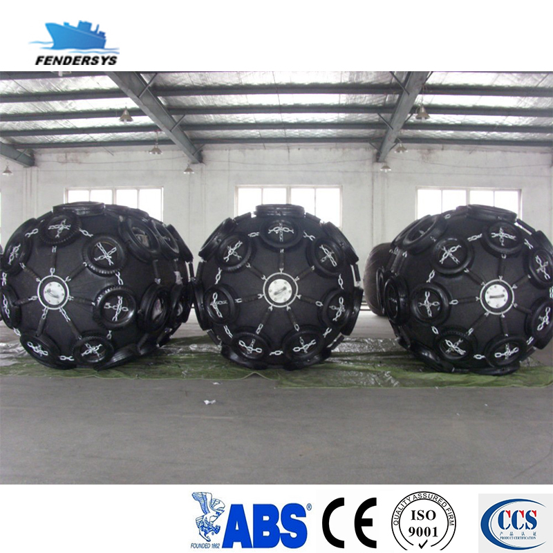 Pneumatic rubber used yokohama fenders with tyre-chain net