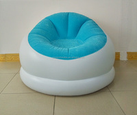Factory cheap Inflatable Sofa outdoor relax inflatable chair sofa custom OEM pvc Flocking Pillow Chair Sofa