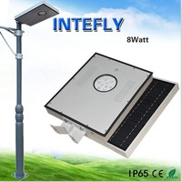 12w outdoor ip65 integrated all in one solar led garden pathway yard street lights
