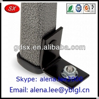 ISO/SGS passed table leg black metal l bracket/custom heavy duty l bracket/black oxide l bracket hardware