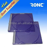 5.2mm Transparant CD Jewel Case Black Tray