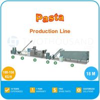 Italian pasta production line - 100~150 kg/h, 18 m Long, 6 Machines Together, TT-PP01
