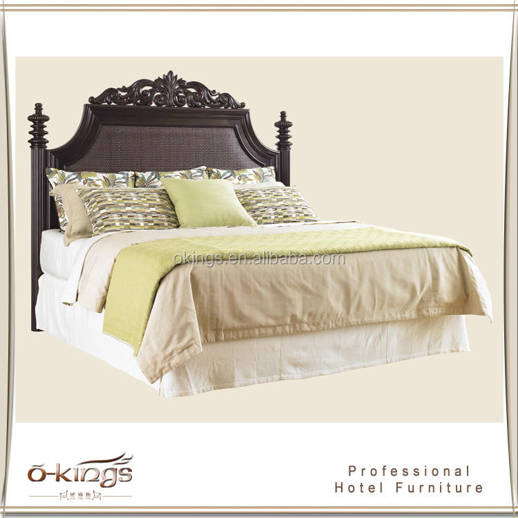 Carved solid wooden bed models european style