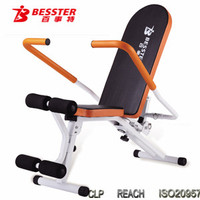 BEST JS-063 New Fitness Equipment AB Trainer Prince Pro folding bench ab twister exercise FITNESS