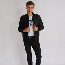 Wholesale customized men pu leather bomber jacket