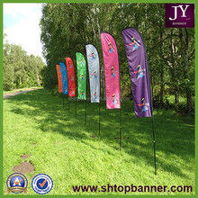3.4M FEATHER FLAG WITH FIBERGLASS POLE AND GROUND STAKE