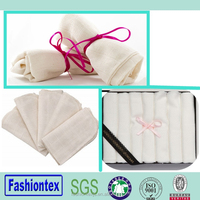 Wholesale baby washcloth bamboo towels organic cotton facial cloth for gifts