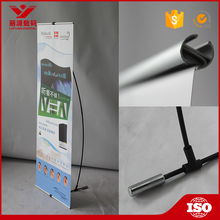 Durable advertising pvc tarpaulin flex L banner stand